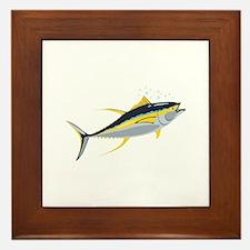 Yellowfin Tuna Fish Framed Tile