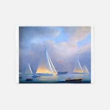 Vintage Sailboat 5'x7'Area Rug