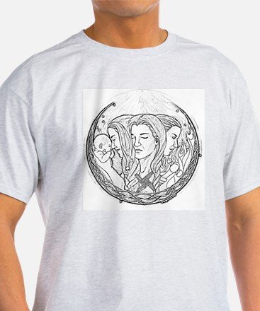 Brighid (black and white) T-Shirt