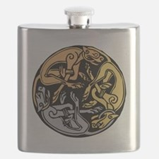 Celtic Chasing Hounds Flask