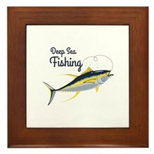 Deep Sea Fishing Framed Tile