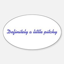 Pitchy Oval Decal