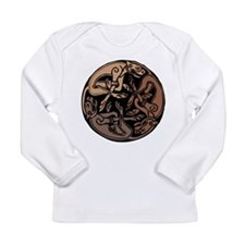 Celtic Chasing Hounds Long Sleeve Infant T-Shirt