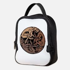 Celtic Chasing Hounds Neoprene Lunch Bag