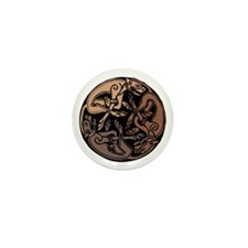 Celtic Chasing Hounds Mini Button