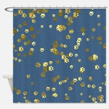 Golden Paws Shower Curtain