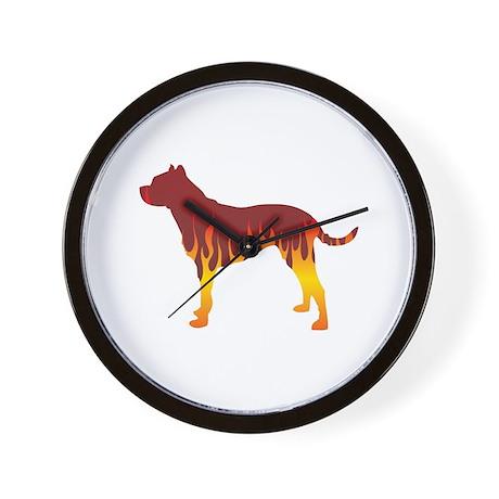 Dogo Flames Wall Clock