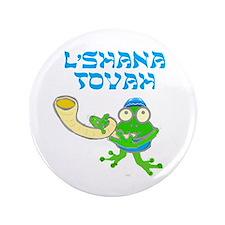 """Shofar for Rosh Hashanah 3.5"""" Button"""