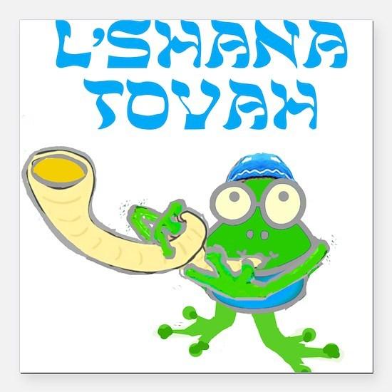 """Shofar for Rosh Hashanah Square Car Magnet 3"""" x 3"""""""