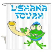 Shofar for Rosh Hashanah Shower Curtain