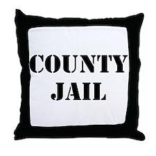 COUNTY JAIL Throw Pillow