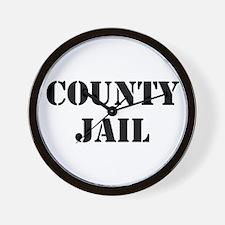 COUNTY JAIL Wall Clock