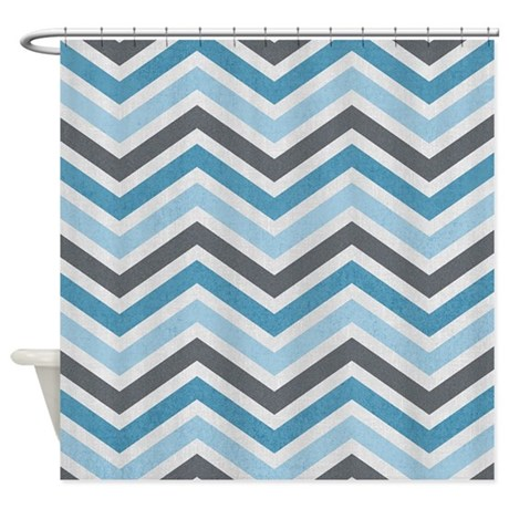 Baby Blue And White Zig Zag Chevron Shower Curtain By Blue And White Chevron Zig Zag Shower