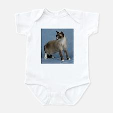 Cute Snowshoe cat Infant Bodysuit