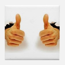 Two Thumbs Up Tile Coaster