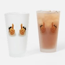Two Thumbs Up Drinking Glass