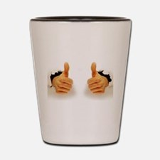 Two Thumbs Up Shot Glass