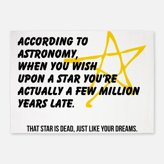 According to Astronomy 5'x7'Area Rug
