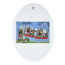Alabama Greetings Oval Ornament
