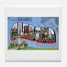 Alabama Greetings Tile Coaster