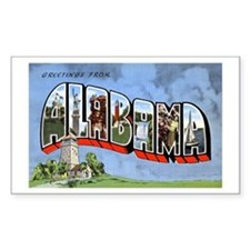 Alabama Greetings Rectangle Decal