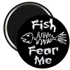 """Fish Fear Me 2.25"""" Magnet (10 pack)"""