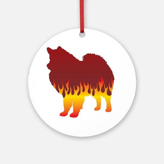 Eskimo Flames Ornament (Round)