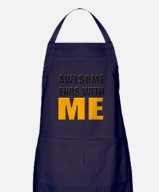 Awesome Ends With ME Apron (dark)