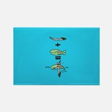 Green Sword Fish Magnets