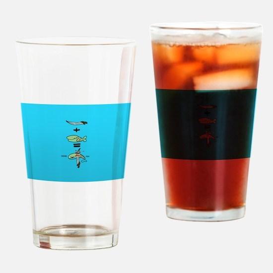 Green Sword Fish Drinking Glass