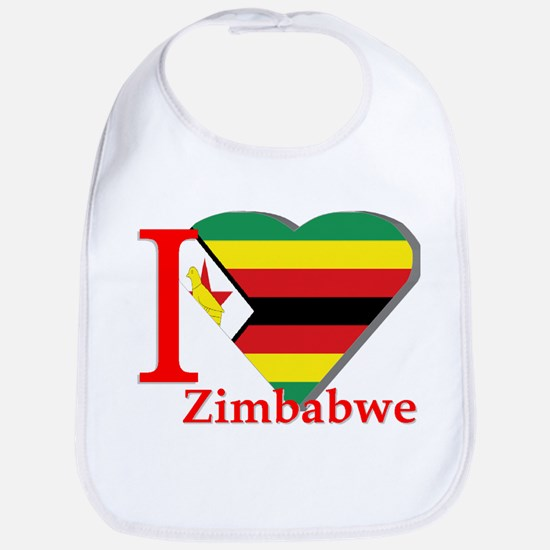 I love Zimbabwe Bib