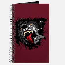 Scary Night Wolf Journal