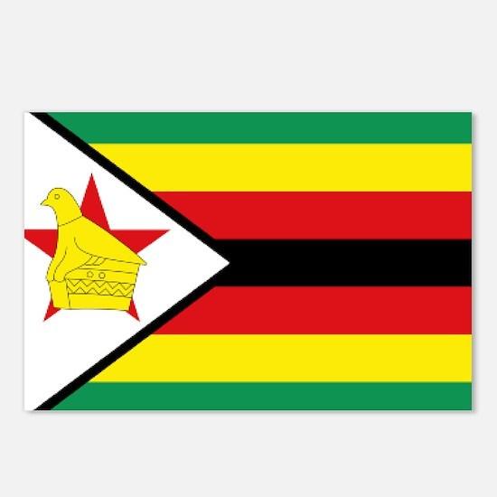 Flag Zimbabwe Postcards (Package of 8)