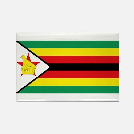 Flag Zimbabwe Rectangle Magnet