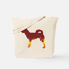 Klee Kai Flames Tote Bag