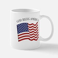 God Bless American With US Flag Mug