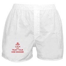 Keep Calm and trust your Web Designer Boxer Shorts