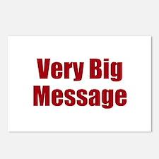 Very Big Custom Message Postcards (Package of 8)