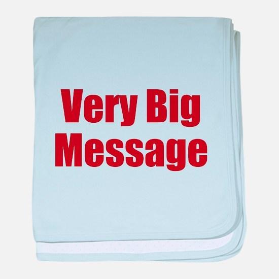 Very Big Custom Message baby blanket