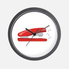 Red Stapler Wall Clock
