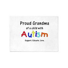 Grandma Autism 5'x7'Area Rug