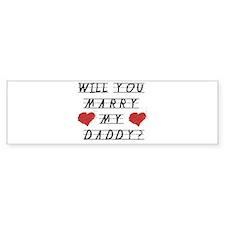 Will you marry? Bumper Bumper Bumper Sticker