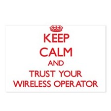 Keep Calm and trust your Wireless Operator Postcar