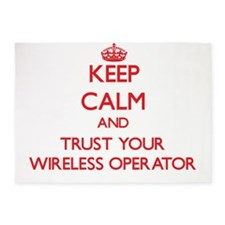 Keep Calm and trust your Wireless Operator 5'x7'Ar