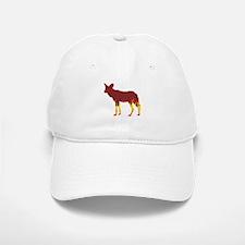 Wild Dog Flames Baseball Baseball Cap