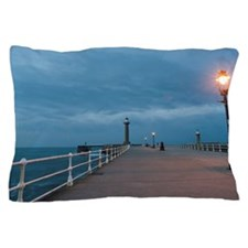 West pier in Whitby at twilight Pillow Case