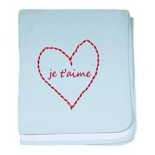 Je T'aime Yarn Heart baby blanket