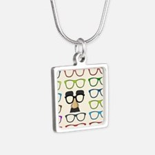 So Many Choices Silver Square Necklace