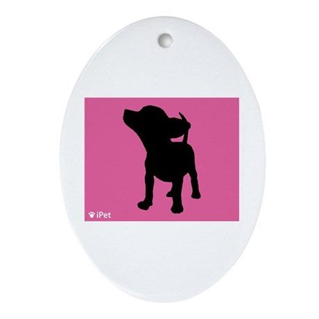 Chihuahua iPet Oval Ornament