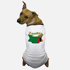 Flag ribbon Zambia Dog T-Shirt